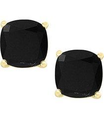 july 14k yellow gold & onyx stud earrings