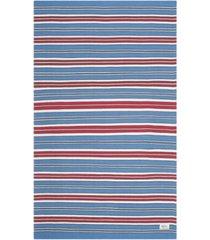 lauren ralph lauren leopold stripe lrl2462d royal blue 4' x 6' area rug
