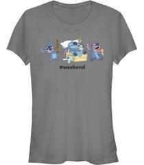 fifth sun women's disney stitch weekend short sleeve t-shirt