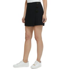 laundry by shelli segal cross-front mini skort