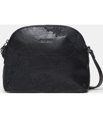 crossbody bag double face - black - u