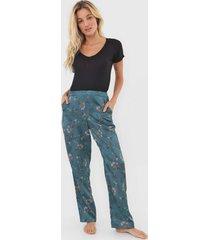 pijama hope secret garden preto/verde