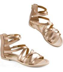 sandalias adulto femenino oro rosado marketing  personal