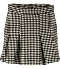 red valentino shorts and skirt with pied de poule pattern