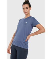 camiseta azul-blanco adidas performance aeroready designed 2 moev