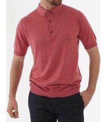 john smedley adrian polo shirt - azalea pink