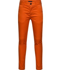 essential slim chino th flex broek oranje tommy hilfiger