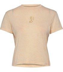 aerial woolmix tee t-shirts & tops short-sleeved multi/mönstrad johaug