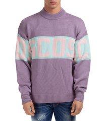 maglione maglia uomo girocollo band logo
