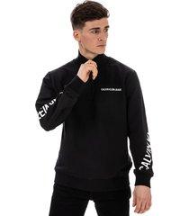 mens stretch fleece zip neck sweatshirt