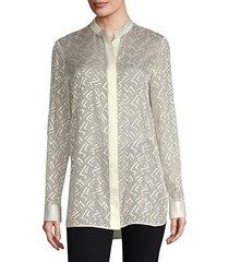 brayden semi-sheer blouse