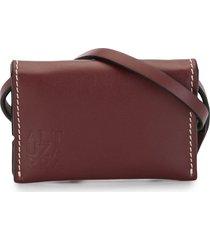 altuzarra card case belt - red