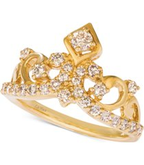 le vian nude diamond tiara ring (3/4 ct. t.w.) in 14k gold