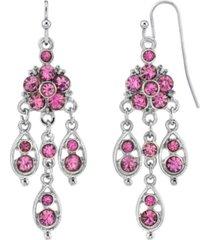 2028 silver-tone chandelier drop earrings