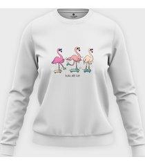 bluza skate flamingi