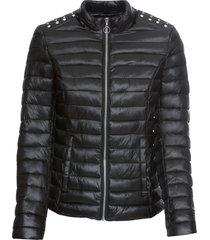 giacca trapuntata con borchie (nero) - bodyflirt