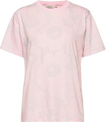 hiekka pieni unikko t-shirt t-shirts & tops short-sleeved roze marimekko
