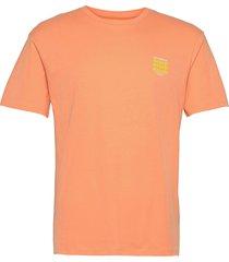 jorhungry tee ss crew neck t-shirts short-sleeved orange jack & j s
