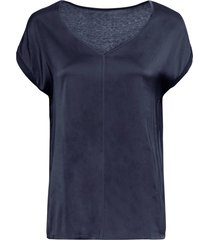 maglia con satin (blu) - bodyflirt
