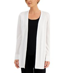 jm collection petite solid open-front cardigan, created for macy's