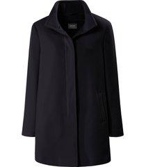 jas met staande kraag en blinde knoopsluiting van basler zwart
