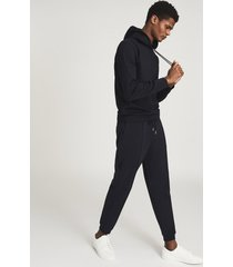 reiss fabien - neoprene loungewear hoodie in navy, mens, size xxl