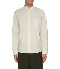 'la chemise simon' patch pocket cotton poplin shirt