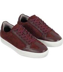 sneakers con cordón y juego de texturas para hombre freedom 00857