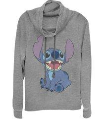 fifth sun juniors disney lilo stitch basic happy stitch fleece cowl neck sweatshirt