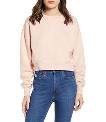 women's ninety percent organic cotton crop sweatshirt