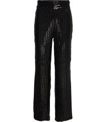 judi sequin trousers wijde broek zwart twist & tango