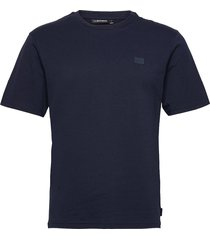 dale logo patch t-shirt t-shirts short-sleeved blå j. lindeberg