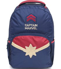 mochila de rodinhas dmw capit㣠marvel azul-marinho - azul marinho - menina - dafiti