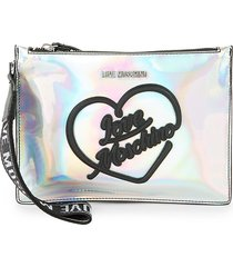love moschino women's hologram logo crossbody bag - hologram