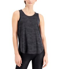 ideology jacquard camo tank top, created for macy's