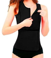 colete cinta modelador regata redutor de medida ajuste cintura hot shapers