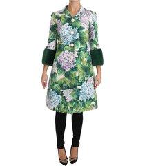 hortensia fur trench coat jacket