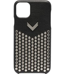 manokhi studded leather iphone 11 pro max case - black