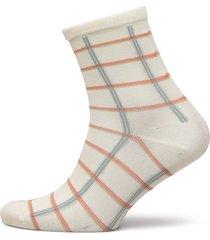 square rainbird sock lingerie socks regular socks creme becksöndergaard