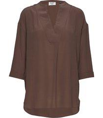 day fan blouses short-sleeved bruin day birger et mikkelsen