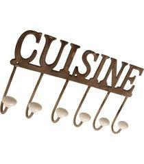 cabideiro de metal decorativo cuisine
