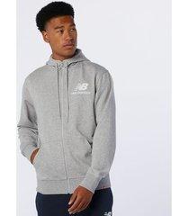 sweater new balance sweatshirt full zip essentials stacked