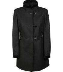 fay high neck toggle coat