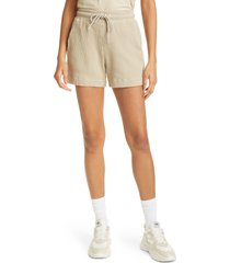 cotton citizen the monaco tie waist shorts, size small in cashew at nordstrom