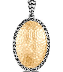 classic chain' 18k hammered gold sterling silver oval enhancer