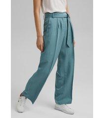 pantalón con lino turquesa esprit