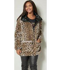 keerbare jas angel of style zwart::beige