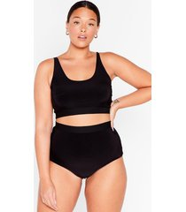 womens slink-ing of you plus bralette and panty set - black