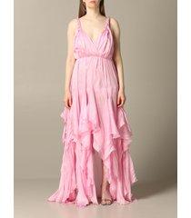 blumarine dress blumarine organza dress with flounces