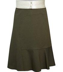 a-line pieced skirt